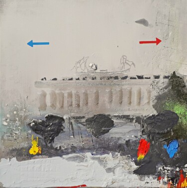 """Painting titled """"Berlin story"""" by Ilgvars Zalans, Original Art, Oil"""