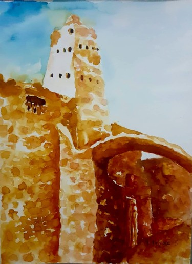 Monument Painting, watercolor, illustration, artwork by Imed Zammouri