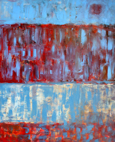 """Painting titled """"Composition 6105"""" by Engelina Zandstra, Original Art, Acrylic Mounted on Stretcher frame"""