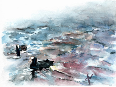 Painting, watercolor, illustration, artwork by Zarin Amrolia