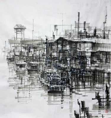 """Drawing titled """"Impression of Fishi…"""" by Chunlei Zhang, Original Art,"""