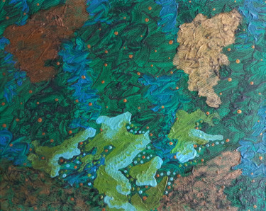 """Painting titled """"Ode Tropicale"""" by Zeta, Original Art, Oil"""