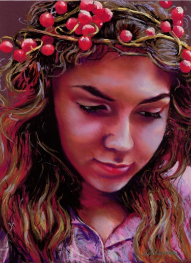 """Painting titled """"Sweet Bryony"""" by Zoe Norman, Original Art, Pastel"""