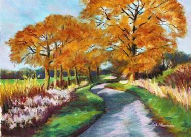 """Painting titled """"Golden Fall"""" by Zoe Norman, Original Art, Pastel"""