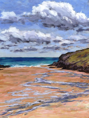 """Painting titled """"Porthcothan Bay"""" by Zoe Norman, Original Art, Acrylic"""