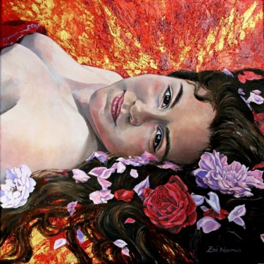 """Painting titled """"Day Dream"""" by Zoe Norman, Original Art, Acrylic Mounted on Stretcher frame"""