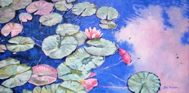 """Painting titled """"Tranquil Waterlilies"""" by Zoe Norman, Original Art, Oil"""