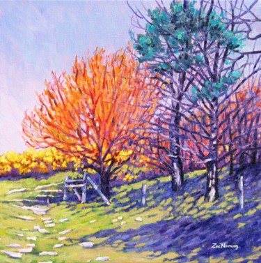 """Painting titled """"Sheringham Spring"""" by Zoe Norman, Original Art, Oil Mounted on Stretcher frame"""