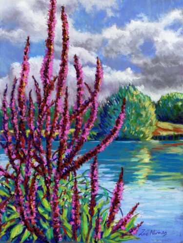 """Painting titled """"Summer on the Norfo…"""" by Zoe Norman, Original Art, Pastel"""
