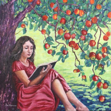 """Painting titled """"Cider With Rosie"""" by Zoe Norman, Original Art, Oil Mounted on Stretcher frame"""