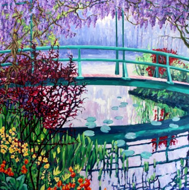 """Painting titled """"Claude Monet's Brid…"""" by Zoe Norman, Original Art, Oil Mounted on Stretcher frame"""