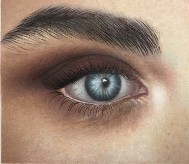 Portrait Painting, oil, hyperrealism, artwork by Zohreh.A