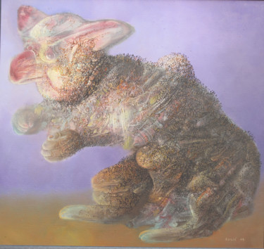 """Painting titled """"BIG EARED"""" by Zoran Zugic, Original Art, Oil Mounted on Stretcher frame"""