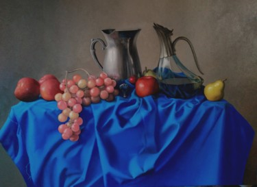 """Painting titled """"Vino"""" by Sergio Zoso, Original Art, Oil Mounted on Stretcher frame"""