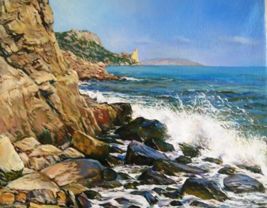 Seascape Painting, oil, figurative, artwork by Сергей Зозуля