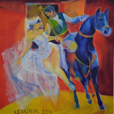 """Painting titled """"The kidnapped girl…"""" by Zeynep Hasırcı, Original Art, Other"""