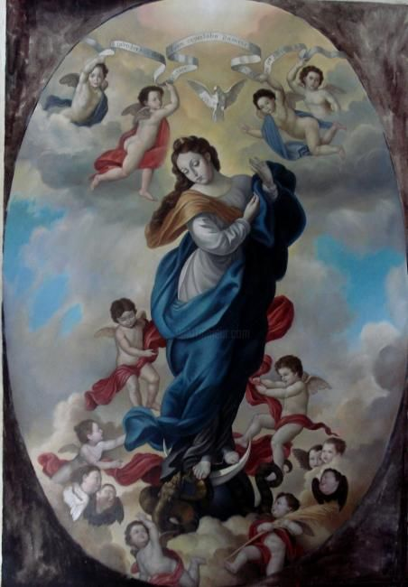 Religious Themes Collection 9 Painting by Rodríguez | Artmajeur