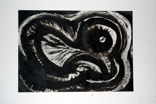 Drawing,  42 x 29,7 cm ©2010 by Vincent Corriere -  Drawing, artwork_cat.Black and White