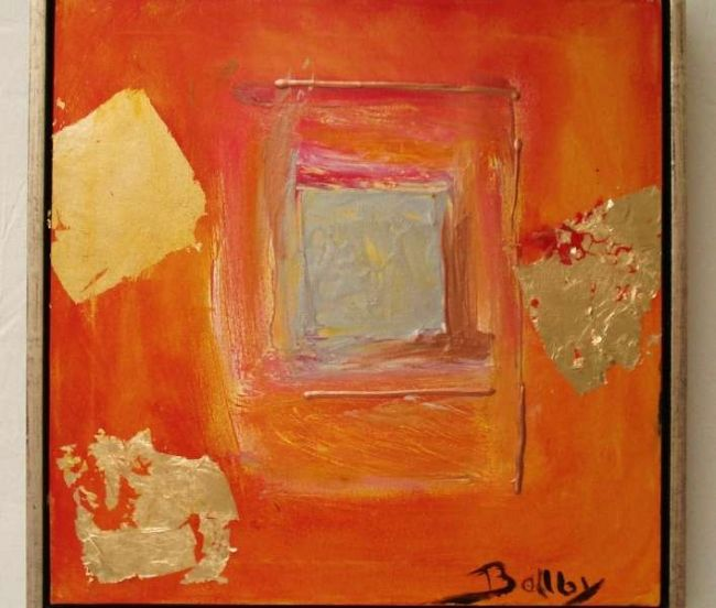 """Painting titled """"orange and gold"""" by Ballebyart, Original Art, Oil"""