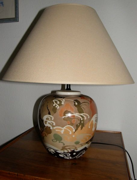 Lampe Decor Japonais Painting By Madeleine Golay Artmajeur