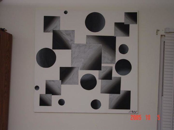 """Painting titled """"spheres outside the…"""" by Shakhan Railey, Original Art,"""