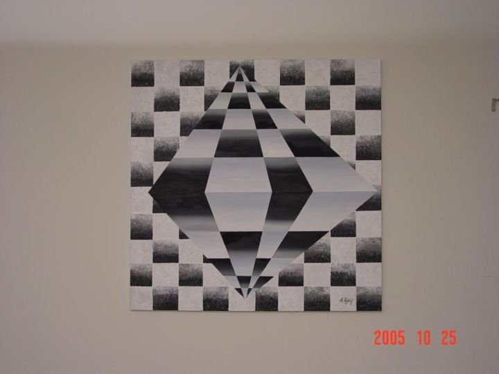 """Painting titled """"3D chess"""" by Shakhan Railey, Original Art,"""