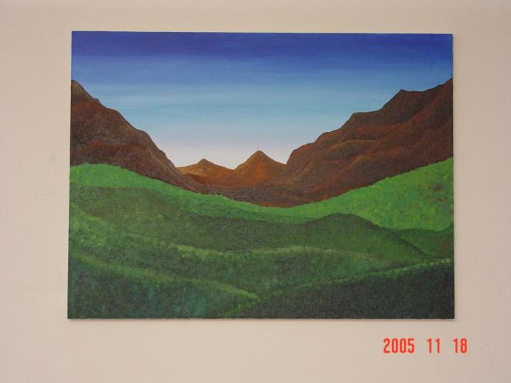 """Painting titled """"The wilderness"""" by Shakhan Railey, Original Art,"""