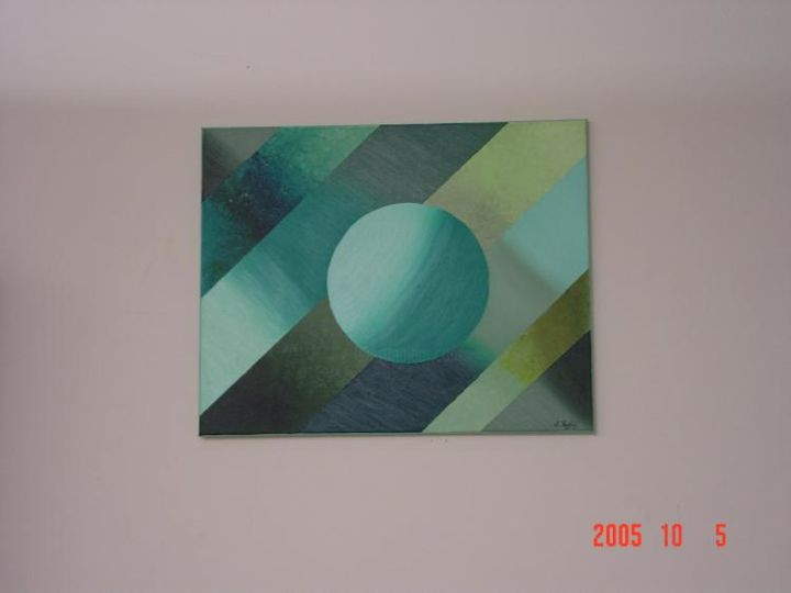 """Painting titled """"Green atmosphere"""" by Shakhan Railey, Original Art,"""
