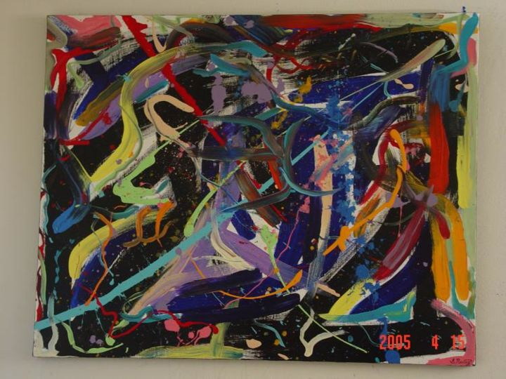 """Painting titled """"Untitled No.2"""" by Shakhan Railey, Original Art,"""
