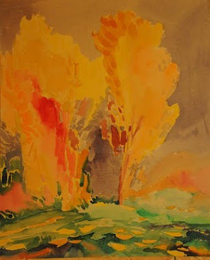 """Painting titled """"""""Autumn time """""""" by Anisiya, Original Art,"""