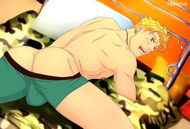 Blonde Guy Male butt Gay art digital painting - ©  7angelm, art, gay, yaoi, bara, guy, man, male, body, painting, anime, fanart, characters, hot, hottest, sexy, guys, boys, muscle, muscular, butt, ass Œuvres-d'art en ligne