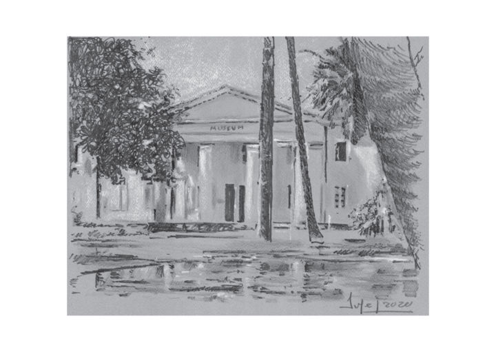 """Drawing titled """"Museum d'histoire n…"""" by Pol Soupe, Original Art, Pencil"""