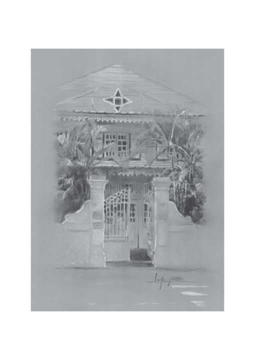 """Drawing titled """"Cabinet Finexpert,…"""" by Pol Soupe, Original Art, Pencil"""