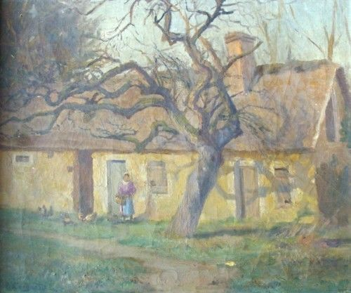 landscape of Normandie - Painting ©1900 by A. COIGNARD -