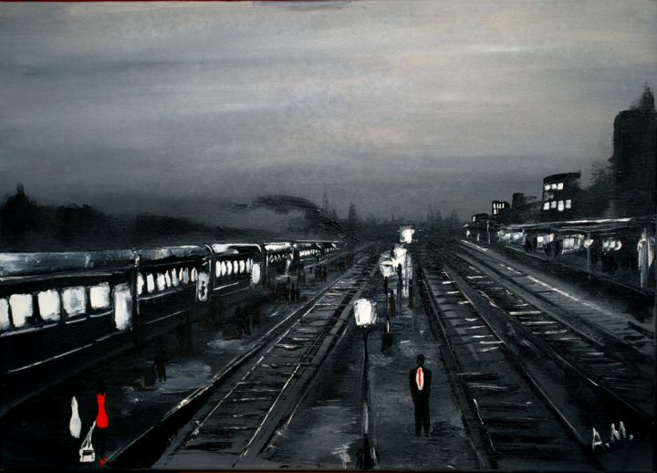 """Painting titled """"Ivano-Frankivsk"""" by Anto Monti, Original Art, Oil"""