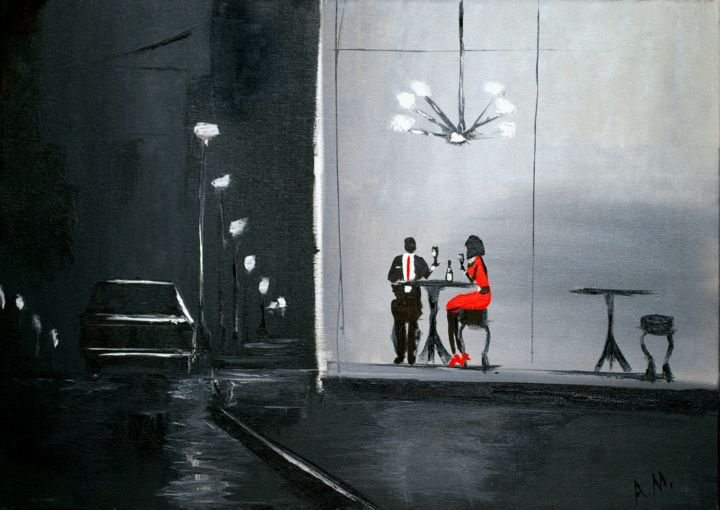 """Painting titled """"London"""" by Anto Monti, Original Art, Oil"""