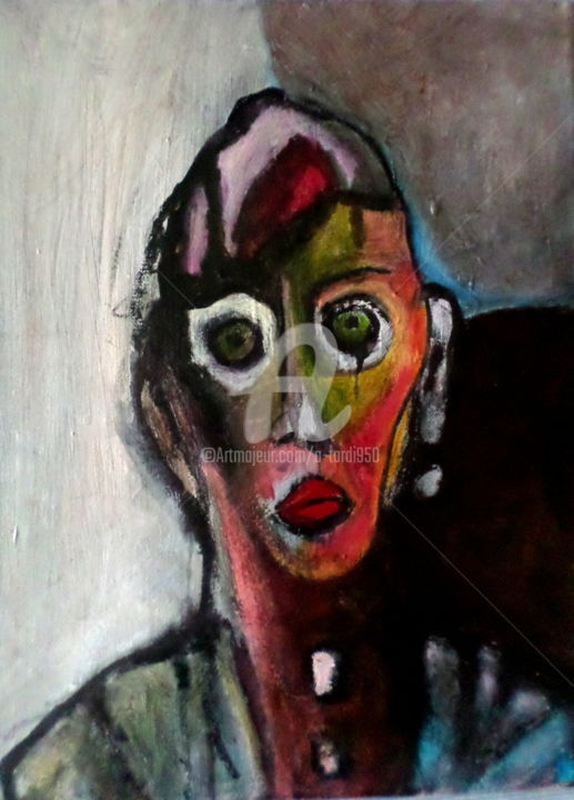 etrY - Painting,  40x30 cm ©2015 by Alain Tardieu -                                                        Expressionism, Canvas, Portraits