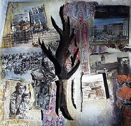 génocide - Mixed Media,  45x48 cm ©2008 by Antz -