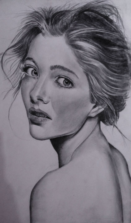 """Drawing titled """"i-see-you.jpg"""" by Uchisas, Original Art, Other"""