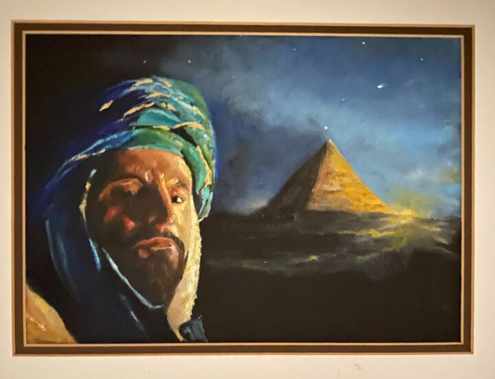 """Painting titled """"Sheik"""" by Larry Aarons, Original Art, Oil"""