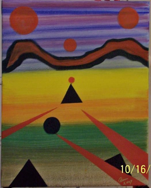 The Same View From Either Place - Painting ©2007 by Paganson -