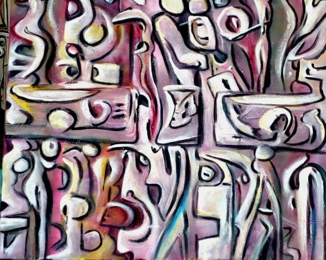 """Painting titled """"Orpheus (in progres…"""" by Leon Aarts, Original Art,"""