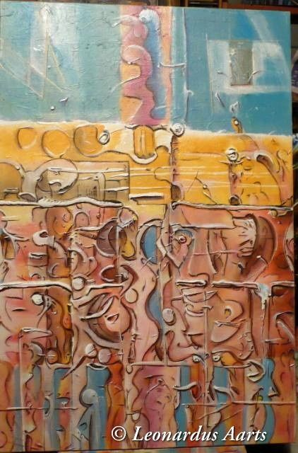 """Painting titled """"SINFONIA"""" by Leon Aarts, Original Art, Oil"""