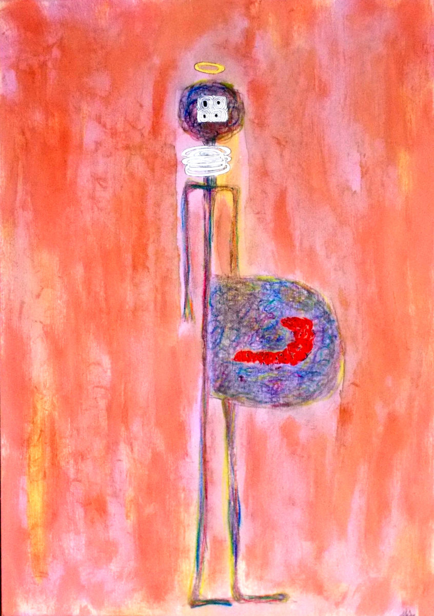 pregnant - Painting,  50x35 cm ©2018 by ABBA -