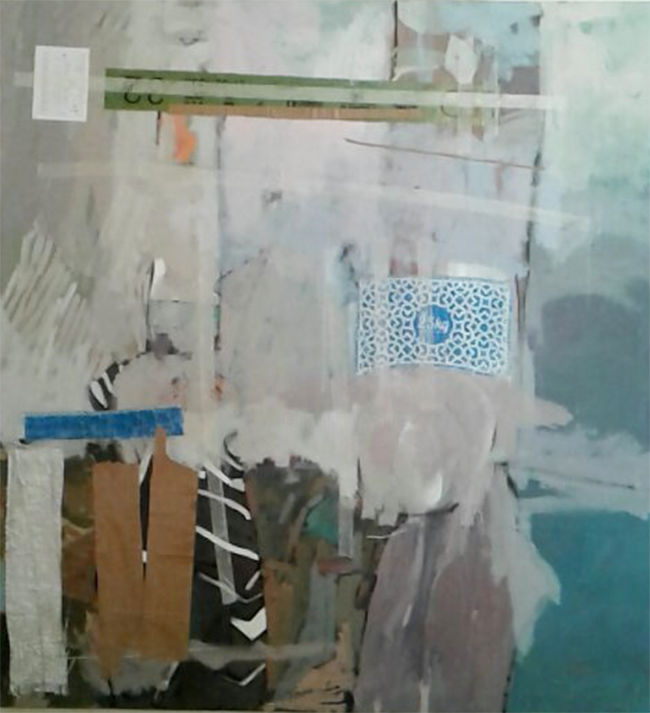 sans titre - Painting,  150x130x4 in ©2019 by Abdelwahed Nora -                                                        Abstract Art, Other, Rural life