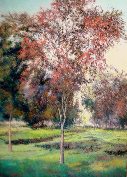 DREAMS OF A HAPPY LIFE - Painting,  1x36x48 in ©2015 by Abid Khan -                                                        Impressionism, Canvas, Landscape