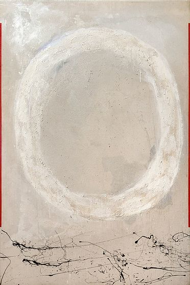 """Painting titled """"White Ring Light"""" by Larry Wolf, Original Art, Acrylic"""
