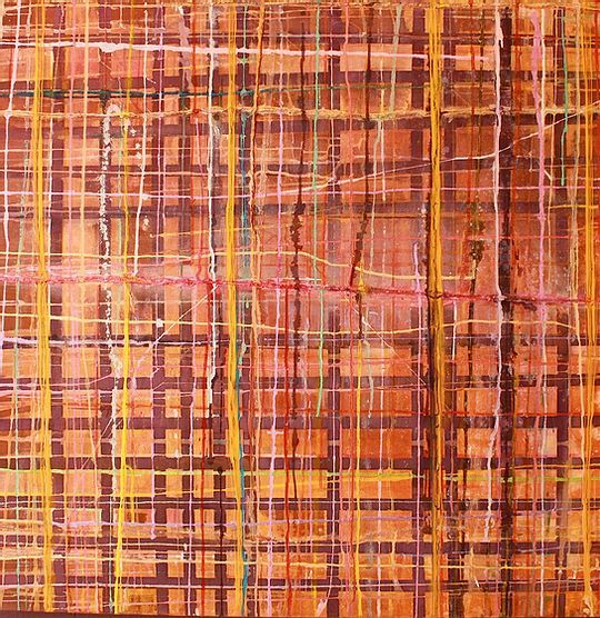 """Painting titled """"On the Grid"""" by Larry Wolf, Original Art, Acrylic"""