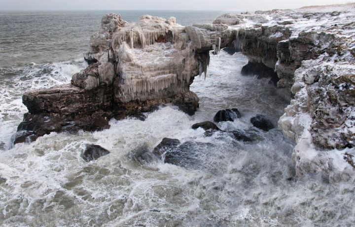 """Photography titled """"Winter Sea Storm An…"""" by Absenth Photography, Original Art,"""