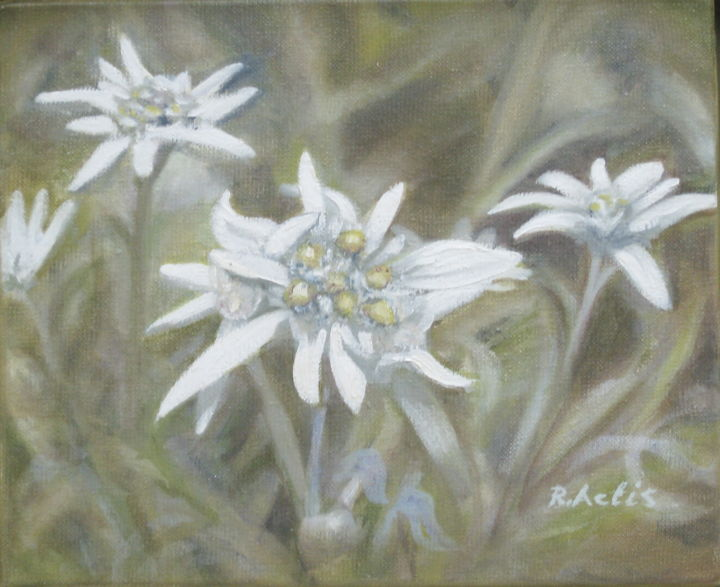 edelweiss.jpg - Painting, ©2017 by Actis-Datta Di Carasco -